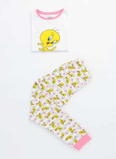 Penti Çok Renkli Kız Çocuk Lıc Famıly Tweety  2Li Pijama Takımı Renkli